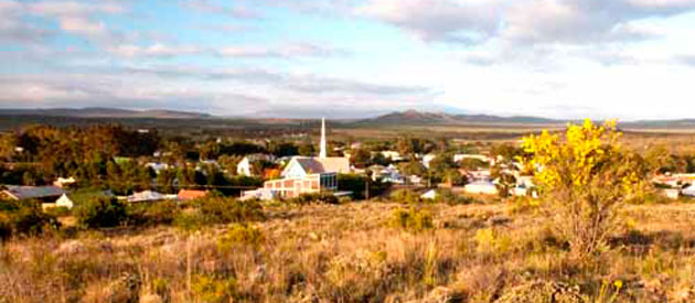 Willowmore, the gateway to the Baviaanskloof in the Eastern Cape province of South Africa.