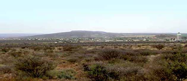 The town of Prieska, in the Northern Cape Province of South Africa.