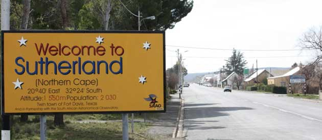 Sutherland, in the Northern Cape province of South Africa.