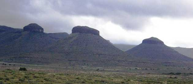 Three Sisters is a landmark along the N1 in the Karoo National Park and is situated about eighty kilometres to the northeast of Beaufort West.
